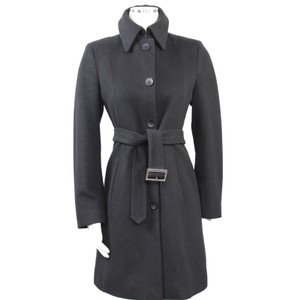 Bergdorf Goodman European Career Minimalist Formal High Collar Coat
