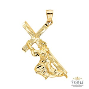 Top Gold & Diamond Jewelry Religious Pendant, 14K Yellow Gold Religious Pendant