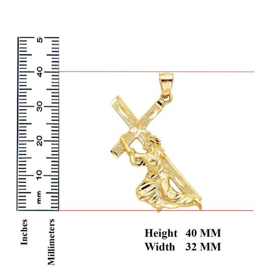 Top Gold & Diamond Jewelry Religious Pendant, 14K Yellow Gold Religious Pendant Image 1