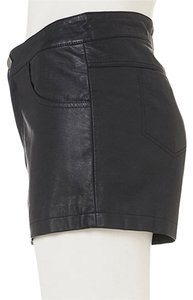 Topshop Leather Nordstrom Dress Shorts Black