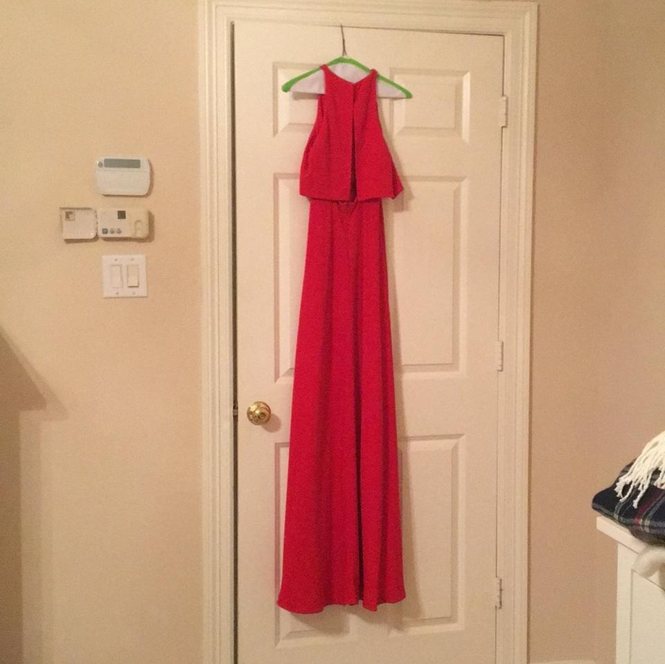 Jill Jill Stuart Bright Red Nordstrom Long Formal Dress Size 0 Xs