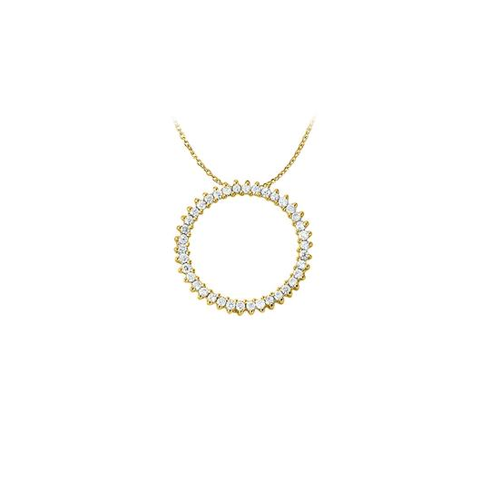 Preload https://img-static.tradesy.com/item/22604128/white-yellow-cubic-zirconia-circle-pendant-in-gold-vermeil-cute-necklace-0-0-540-540.jpg