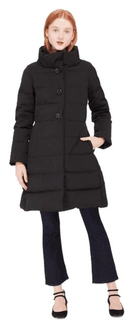 Item - Black Jewel Button Puffer with Bow In Coat Size 0 (XS)