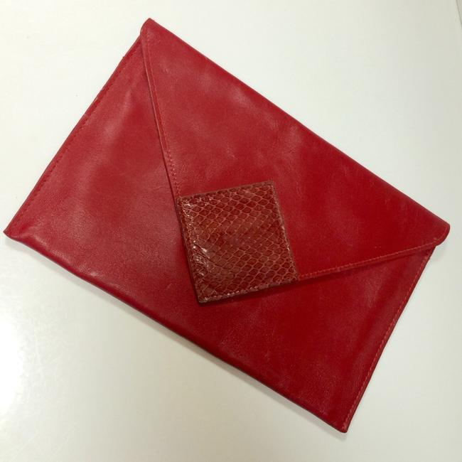 Item - Envelope Red Leather Clutch