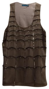 Alice + Olivia Top grey with silver sequins