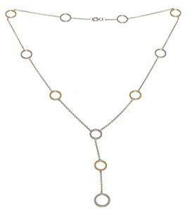 Tiffany & Co. Tiffany & Co. Silver and Gold Circle Dangling Necklace 202438