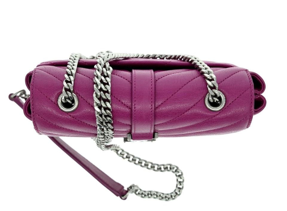 Saint Laurent Baby Chain Messenger Pink Leather Cross Body Bag - Tradesy 60a4f38f410ce