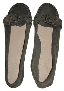 J.Crew Moccasins Loafers Suede Green Buckle Moss Green Flats