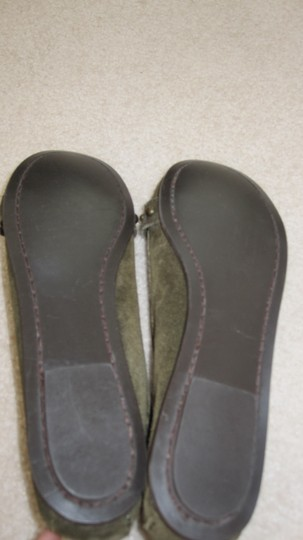 J.Crew Moccasins Loafers Suede Buckle Moss Green Flats