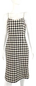 Charles Chang Lima Check And White Crystal Cotton Dress