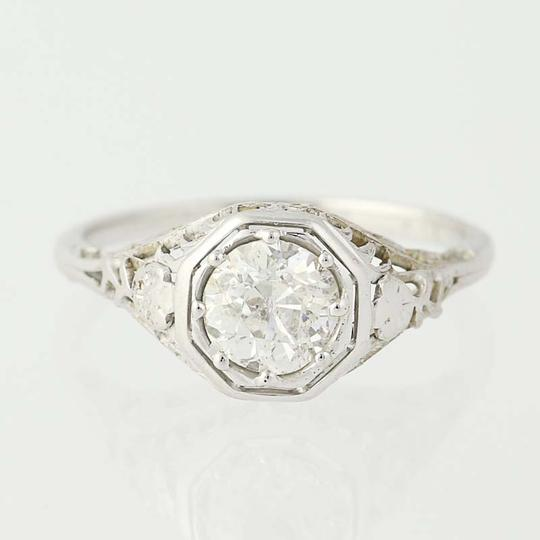 Art Deco Diamond 18k Gold Vintage European Cut Solita