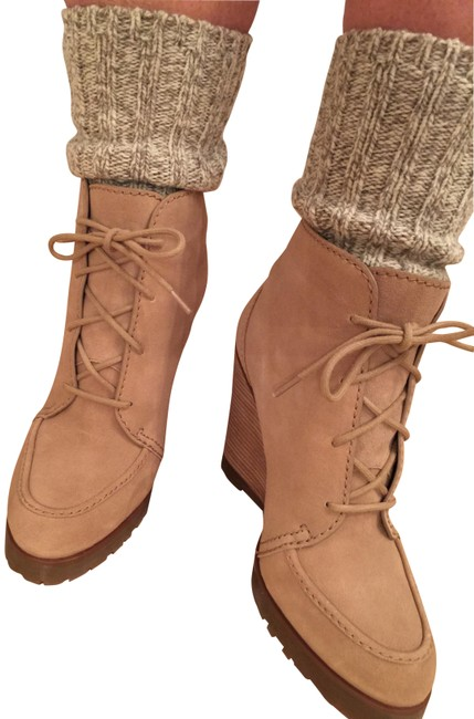Item - Dark Khaki (Tan) New Piper Wedge Boots/Booties Size US 8 Regular (M, B)