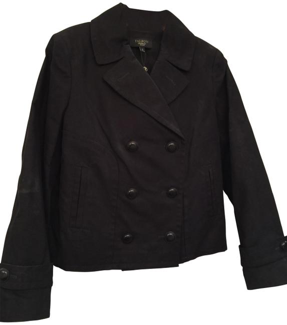 Item - Black New Double Breasted Coat Size Petite 8 (M)