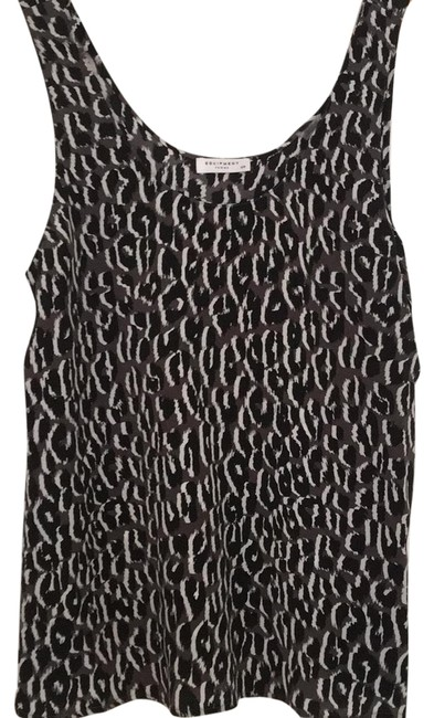 Item - Black Brown and White Silk Tank Top/Cami Size 6 (S)