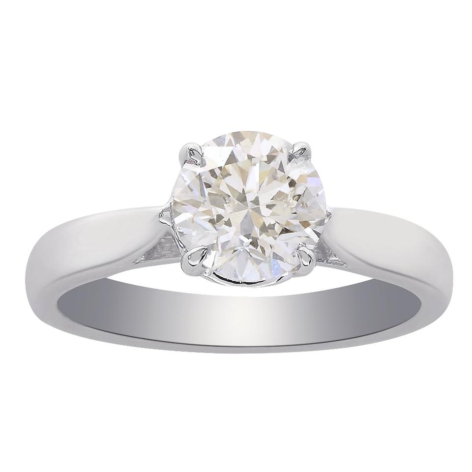 6b5fdf5c7 Avital & Co Jewelry White 1.01 Carat Round Brilliant Cut Diamond Solitaire  14k W Engagement Ring ...