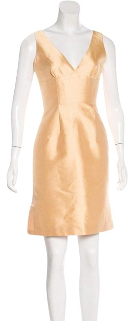 Item - Gold P3255 Mid-length Cocktail Dress Size 0 (XS)