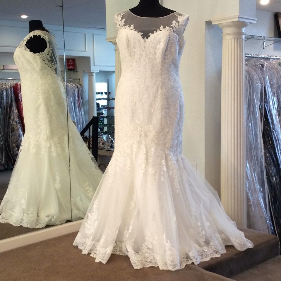 Mori Lee Ivory Lace 5466 Traditional Wedding Dress Size 22 (Plus 2x ...