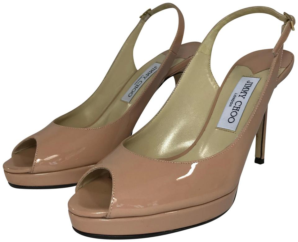 87a1ed42ab1a Jimmy Choo Blush Nova Slingback In Patent Pumps. Size  US 10 Regular ...