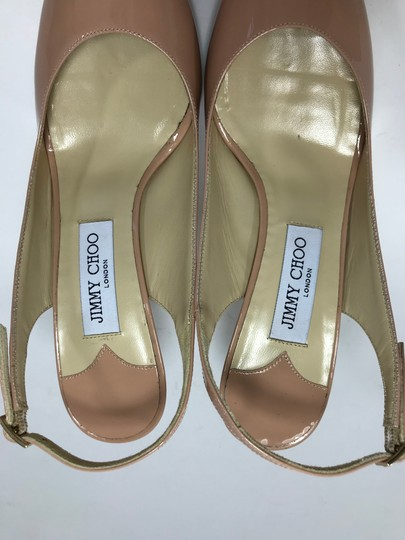 9a393dd26a35 Jimmy Choo Blush Nova Slingback In Patent Pumps Size US 10 Regular ...