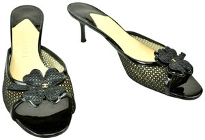 Chanel Cc Cambon Leather Camilla Black Sandals