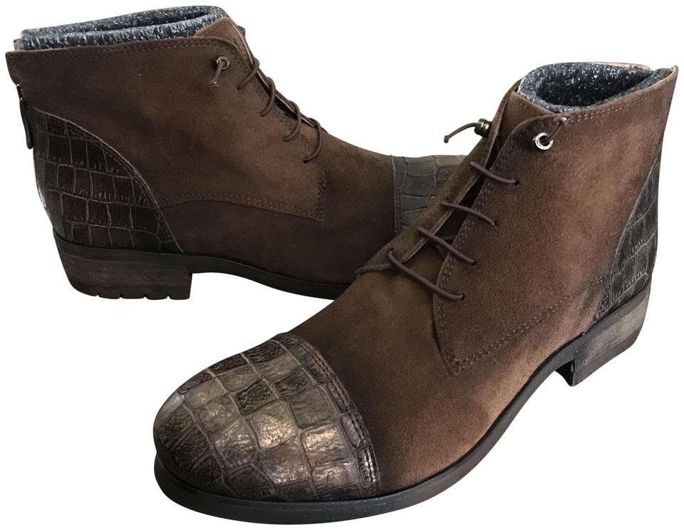WOMENS Kanna Brown Suede Combat Boots/Booties Strong heat and and and heat resistance 068a29
