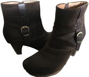 Earthies Clog Ankle Leather Distressed Brown Boots