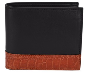 Gucci New Gucci Men's 256418 Mistral Moon Ostrich Skin Leather Bifold Wallet