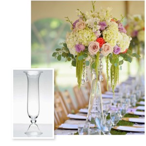 "30"" Reversible Glass Trumpet Vase"