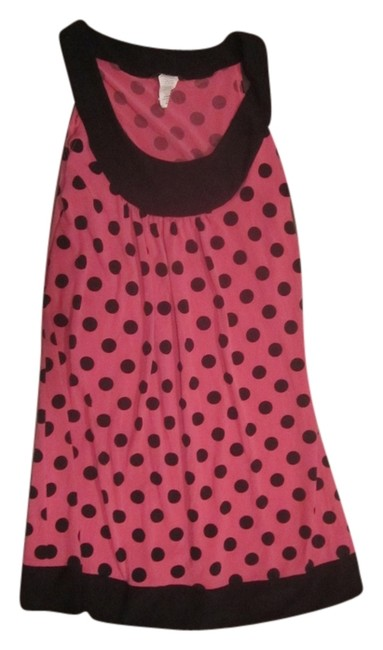 Body Central short dress Pink with Black Polka Dot on Tradesy