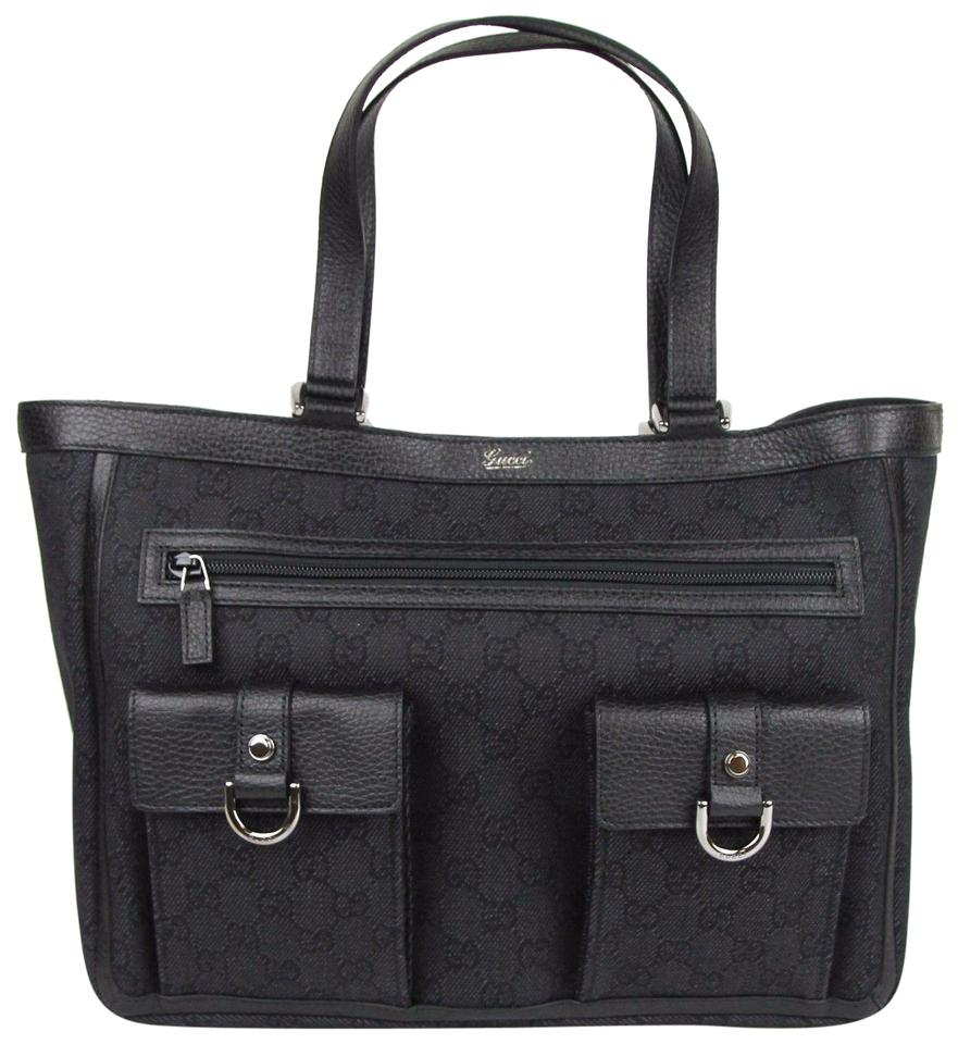 ea013d610984a9 Gucci Black Denim Tote   Stanford Center for Opportunity Policy in ...