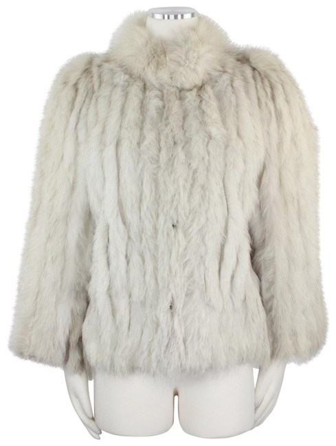Item - White Silver Blue Fox Of Finland Short 924 Coat Size 6 (S)