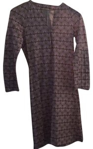 Hérion 1886 short dress purple pink and olive green on Tradesy