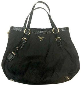 60900d65a1be Prada Double Zipper Black Nylon Tote - Tradesy