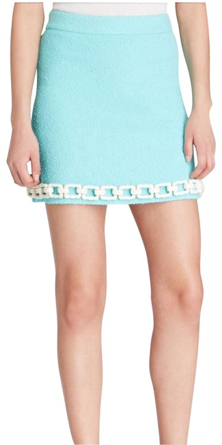 Moschino Green and White Cheap Chic - Chain Skirt Size 10 (M, 31) Moschino Green and White Cheap Chic - Chain Skirt Size 10 (M, 31) Image 1