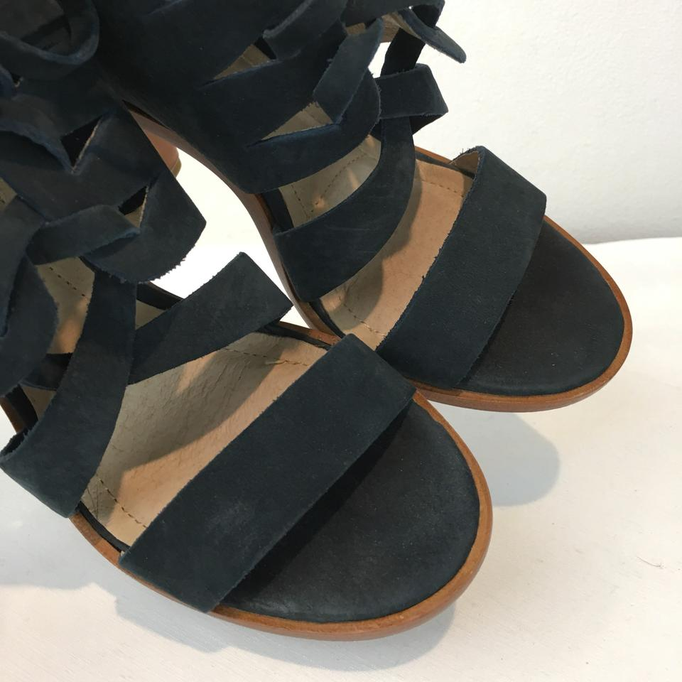 20cfd24bb93 Frye Blue Sofia Tie On Suede Heels Sandals Size US 7 Regular (M