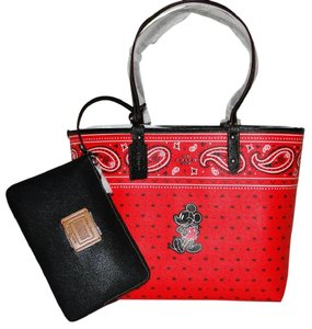 Coach Disney Mickey Mouse Reverisble Tote in Red