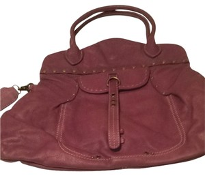 Hayden-Harnett Removable Crossbody Strap Satchel in Plum