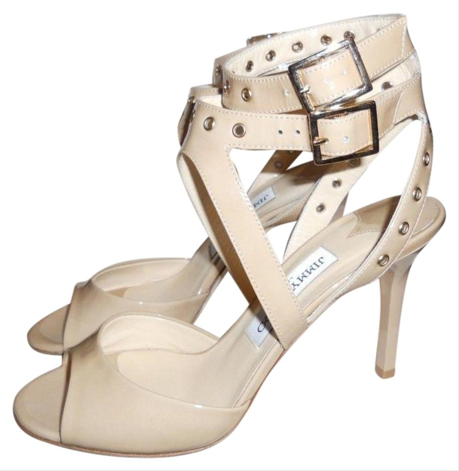 f1963b7a034a Jimmy Choo Blast Patent Leather Ankle Strap Open Nude Sandals Image 0 ...