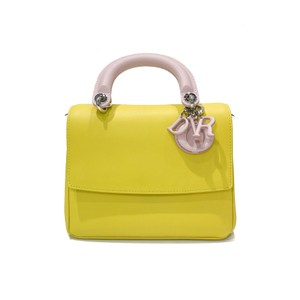 Dior Tote in Yellow/Pink