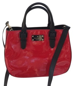 Kate Spade Very Stylish Shiny Patent Leather Satchel In Red