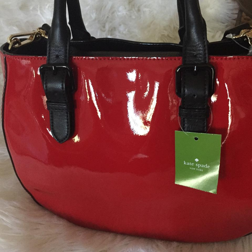 Kate Spade Very Stylish Shiny Patent Leather Satchel In Red 123456789101112