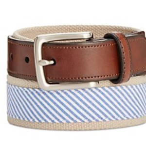 Club Room Men's Handmade Material High Quality Leather Belt