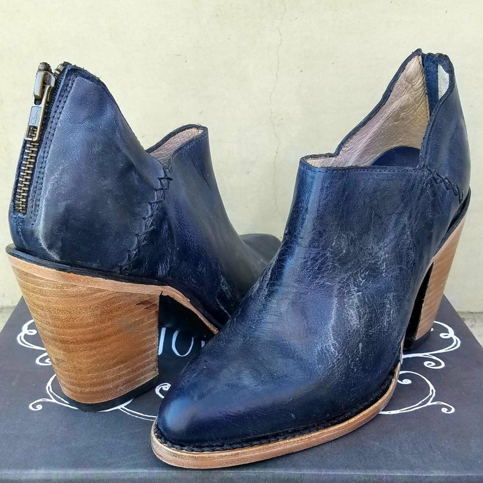 f1a3f47dc5b FreeBird Blue Distressed Leather By Steve Madden Steel Boots Booties ...