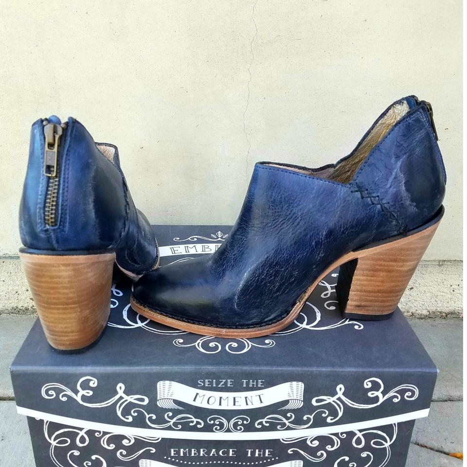 26bbc7e1195 FreeBird Blue Distressed Leather Freebird by Steve Madden Boots Image 4.  12345