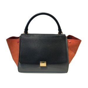 Céline Tote in Black / grey / orange