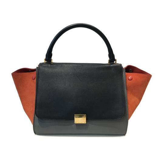 Preload https://item1.tradesy.com/images/celine-trapeze-tri-color-smooth-and-suede-medium-black-grey-orange-leather-tote-22607645-0-0.jpg?width=440&height=440