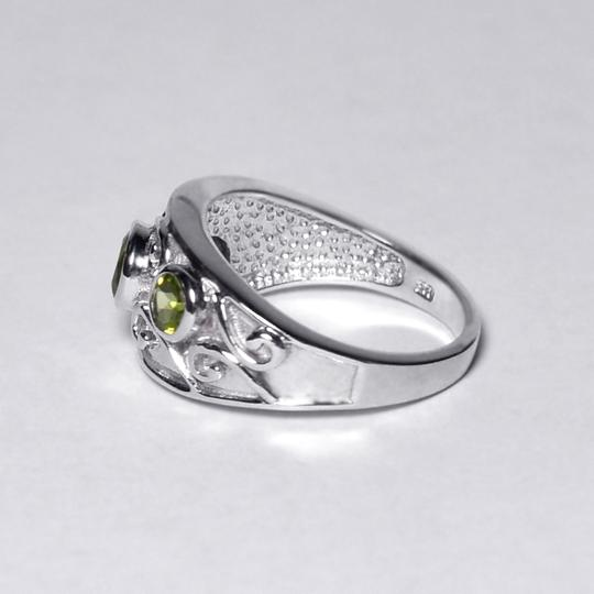 NY Collection Natural Bezel Set Peridot Vintage Band Jewelry Womens 925 Sterling Image 3