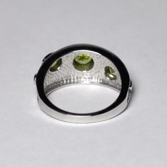 NY Collection Natural Bezel Set Peridot Vintage Band Jewelry Womens 925 Sterling Image 4