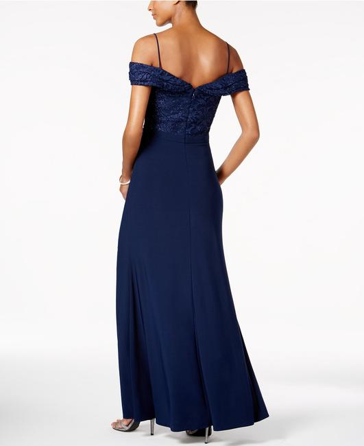 Night Way Collections Royal Blue Lace Halter Gown Long