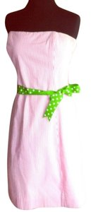Molly B Seer Sucker Pin Stripes Polka Dot Dress
